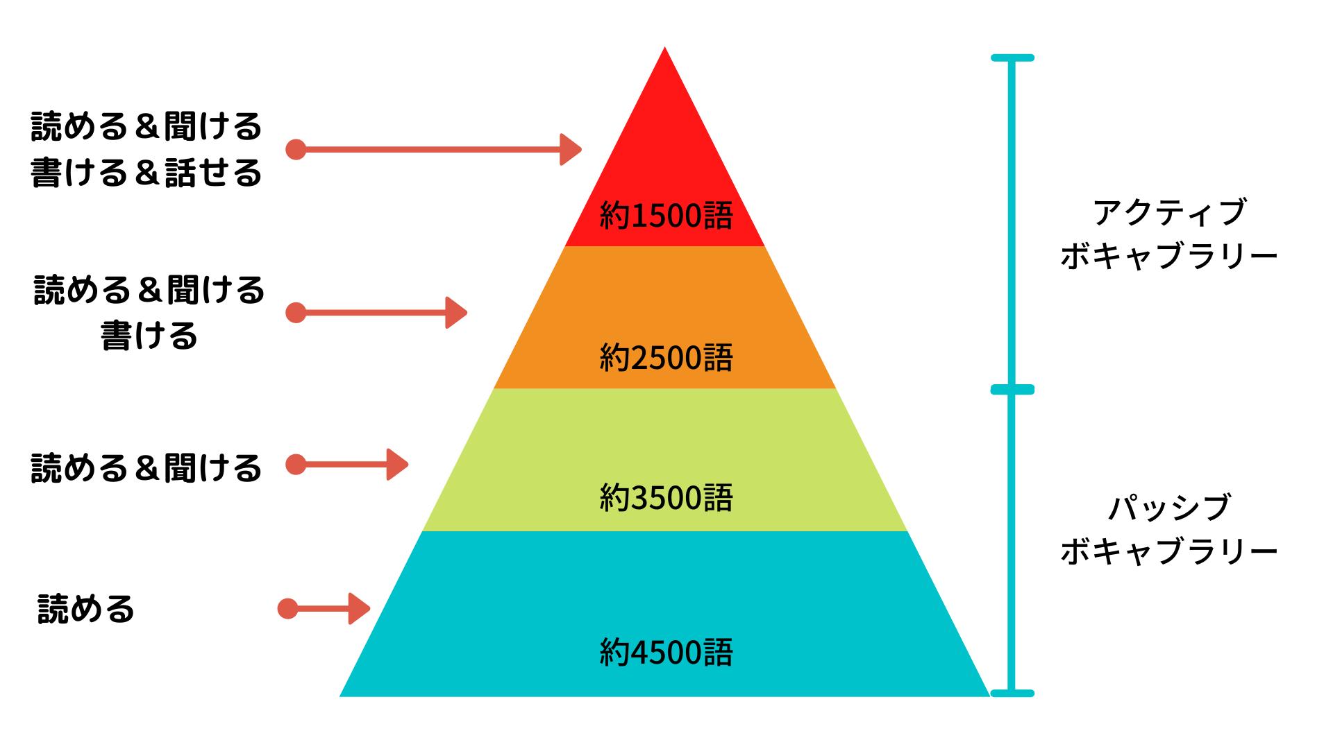 英検1級単語のパッシブボキャブラリーとアクティブボキャブラリー